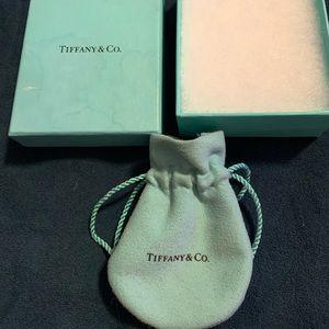 Tiffany & Company authentic jewelry box & pouch